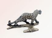 African Leopard Sculpture
