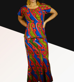 African fashion Bouake Style Outfit