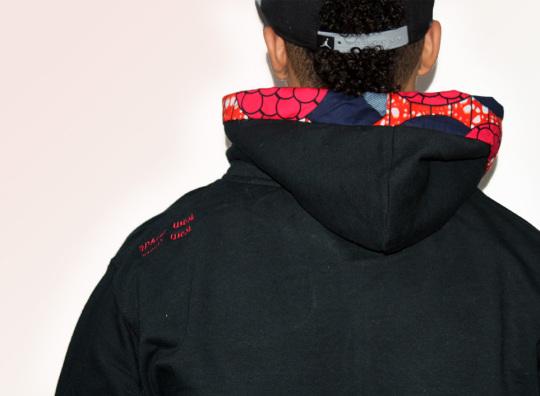 MICOBI unisex navy blue hoodie Nigerian Print