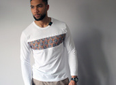 MICOBI White long sleeve fitted tee