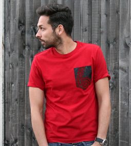 MICOBI Red fitted tee