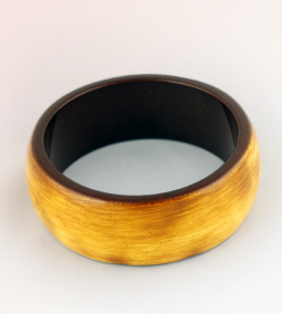 Golden Coloured Wooden bangle
