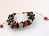 African Coloured Natural seed bangle