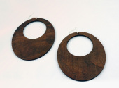 Solid wood Oval Earrings