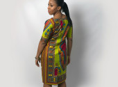 Screams Africa Ghanaian Lime Green Angelina Dress