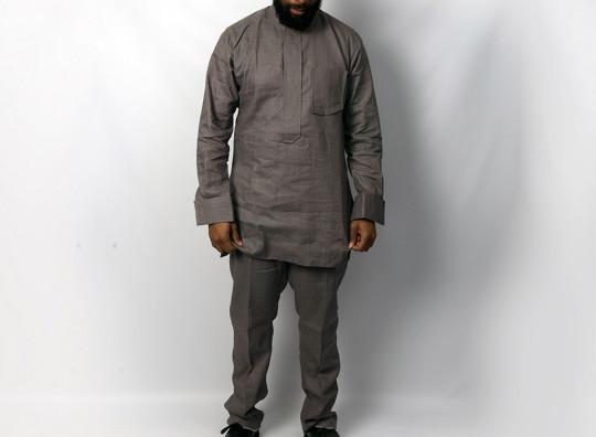 Mens Linen ash suit