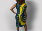 Yellow Ghanaian Angelina dress