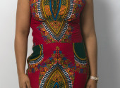 Ghanaian Pink Angelina Halter Dress
