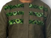 Screams Africa Khaki Linen Suit